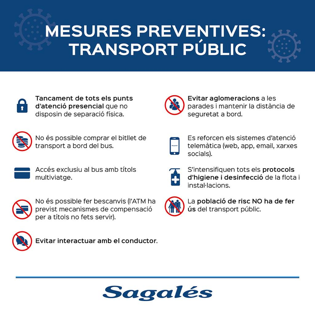 Mesures preventives: transport públic